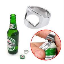 Novelty Cool Men Stainless Steel Metal Finger Ring Beer Wine Bottle Opener Tool