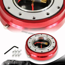 "1"" Red 6-Hole Steering Wheel Short Quick Release Hub Adapter Kit Universal 3"