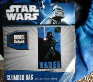 Star Wars Vader Slumber Sleeping Bag Bonus Backpack HTF NEW Christmas gift