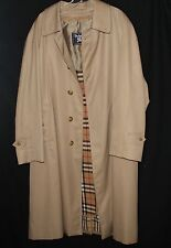 BURBERRY Authentic Mens Coat Coat Plaid Lining Trench Jacket plus Liner Sz 40 S