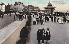 WORTHING - PIER ENTRANCE COLOUR POSTCARD (EARLY 1900s)