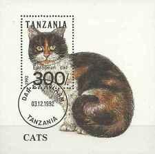 Timbre Chats Tanzanie BF205 o lot 17776