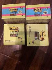 Post It Super Sticky Notes Cube 3 In X 3 In Bright Colors Lot Of 4