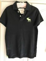 Mans Size S Abercrombie & Fitch Black Polo Shirt Pre Owned