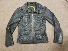 Superdry Real Leather Womens Jacket, Fits Size 8, Distressed Look, Megan(?)