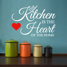 HH2 The kitchen is the heart of the home -  Wall Quote Sticker - Art Decor