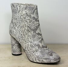 M&S Limited Edition SNAKE PRINT High Heel ANKLE BOOTS ~ Size 6 ~ GREY Mix