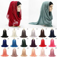 Muslim Women Lady Chiffon Hijab Shawl Long Scarf Scarves Head Wrap Arab Islamic