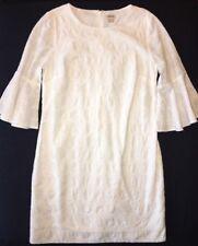 J Crew Dress S NWT Flutter Sleeve Eyelet Shift White g3358 NWoT New