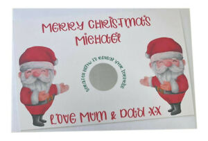 Personalised Merry Christmas Santa Surprise Present Reveal Scratch Card