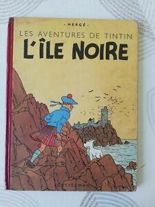 TINTIN / L'ILE NOIRE / B4 / 1950 / TRES BEL ETAT !