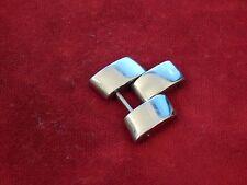 BAUME MERCIER SOLID STEEL HAMPTON BAND BRACELET 18MM LINK DIAGONO TYPE