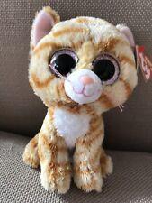"Ty Beanie Boos Boo - Tabitha Tabby Kitten Cat - Soft Plush Stuffed Teddy Toy 6"""