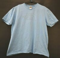 The North Face Men's Size Large Light Blue Logo Short Sleeve Cotton T-Shirt