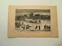 KP57) Battle of Lexington Massachusetts 1775 American Revolution 1884 Engraving
