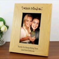 Personalised Wooden Best Friends Photo Frame 6x4 Birthday Gift Christmas Gift