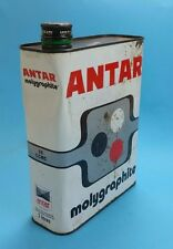 Vintage Antar  Oil can 2 litres Extra Motor Auto Gas Service Station Tin Can