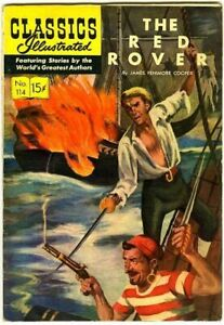 Classics Illustrated 114 Red Rover 1st FNVF