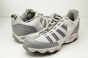 Cannondale 6 Gray Pink Cycling Shimano SPD Cleats Mountain Bike Shoes Women's