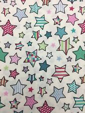 Fabric Twinkle Candy Stars Pink