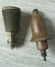 2 Antique Early Electrical Composite Fuse Ceramic Element Devices