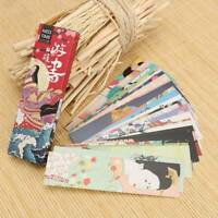 30pcs/lot Japanese Style Paper School Bookmarks Page Magazine Note Label Memo