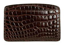 LOUIS VUITTON Espresso Brown Shiny Alligator Skin Card Holder Wallet