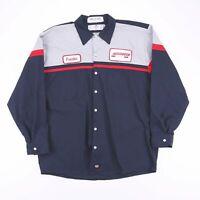 Vintage RED KAP Navy Blue Long Sleeve Casual Worker Shirt Size Men's XL