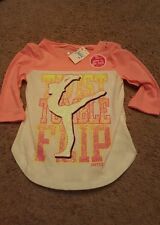 Girl's Justice Twist Tumble Flip glow in dark top Sz 5 NWT
