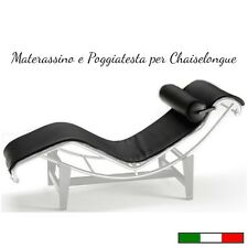 Chaiselongue ricambio Materassino e Poggiatesta in Pelle - Made in Italy