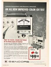 1967 Sencore CR143 Champion CRT Tester Television Service Repair Vtg Print Ad