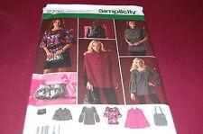 Simplicity Pattern # 2735 - Women's Cape, Capelet, Tunic, Bag - Size 6-14 - NEW
