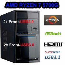 Windows 10 ELITE PC MSI Komplett AMD Ryzen 7 5700G 32GB 1TB SSD Radeon System