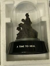 Ltd Ed Hand Painted Sculpture Glass Dome Nurses Veterans Memorial A Time to Heal