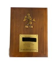 Disney Cast Member 10 Year Award Plaque