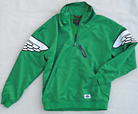 AIR JORDAN Wings NIKE Classic Pullover Varsity Jacket JumpMan Green Satin Men S