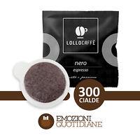 300 Cialde Caffè Lollo Nero Espresso Miscela Nera in carta ESE 44mm