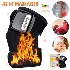 Electric Heating Vibration Knee Joint Pad Brace Massage Therapy Legs Massager