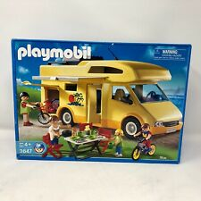 Nib Playmobil #3647 Family Camper Motor Home Vehicle Rv Travel Family Trip