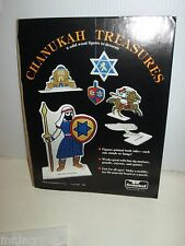 JEWISH CHANUKAH HANUKKAH WOODEN FIGURES TO PAINT & DECORATE WOOD