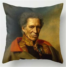 Keith Richards cushion cover, Portrait, gift, The Rolling Stones