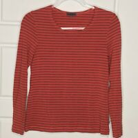 OSKA Size 1 Red Striped knit Top Regular Fit