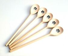 Wooden cooking spoon  5 piece beech wood 35 cm Four leaf clover