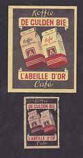 Ancienne  étiquette  Allumettes Belgique BN22371 Café l'Abeille d'Or
