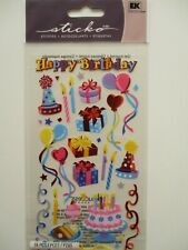STICKO STICKERS  - Birthday Party - Happy birthday cakes gifts
