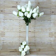 Ivory 42 Giant Velvet Rose Buds Wedding Flowers Bouquets Party Centerpieces