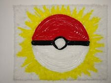 Full Art Pokemon Ball Card Trainer Item artist rendering made with yarn on stock
