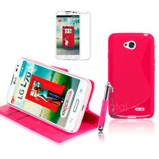 HOT PINK Wallet 4in1 Accessory Bundle Kit Case Cover For LG L70