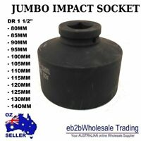 "Impact Sockets 6 POINT 1-1/2"" DR 80MM TO 140MM JUMBO Industrial Truck Machine HD"