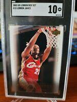 LEBRON JAMES 2003 UPPER DECK RC Rookie #15 Box Set SGC 10 GEM MINT POP 2 vs PSA